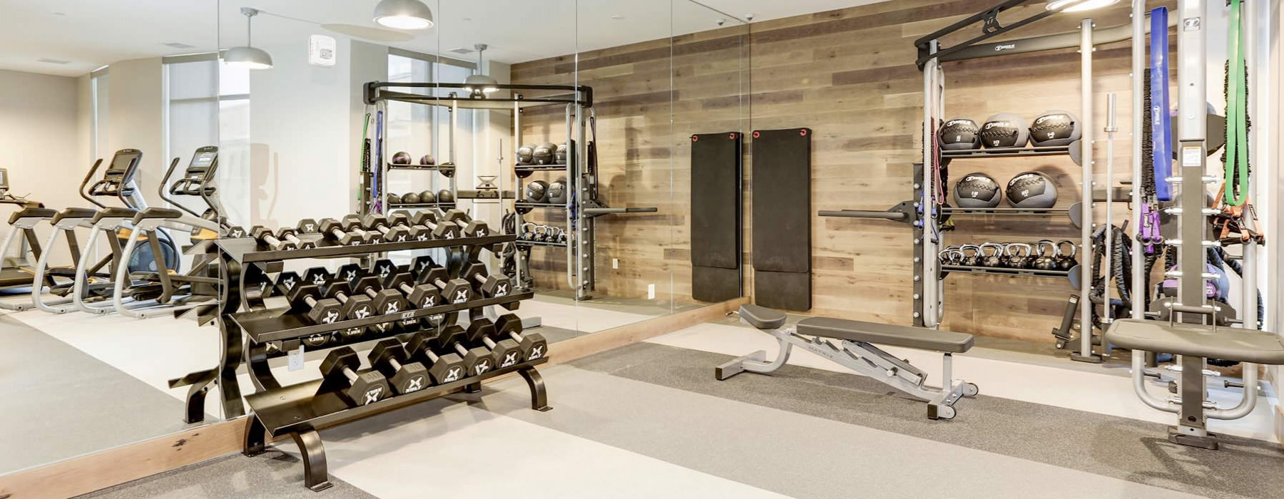 Fitness Room At Porter Street Apartments
